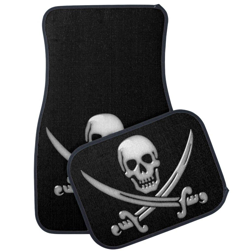 Pirate Skull & Sword Crossbones (TLAPD) Car Mat