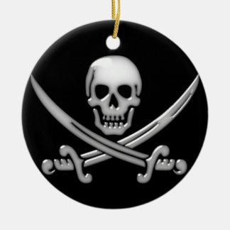 Pirate Skull & Sword Crossbones (TLAPD) Ceramic Ornament