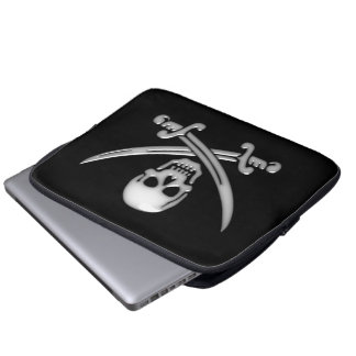 Pirate Skull & Sword Crossbones (TLAPD) Computer Sleeve