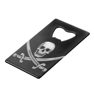 Pirate Skull & Sword Crossbones (TLAPD) Credit Card Bottle Opener