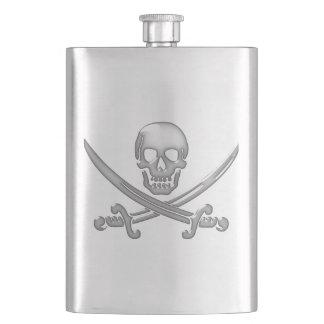 Pirate Skull & Sword Crossbones (TLAPD) Flask
