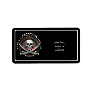 Pirate Skull & Sword Crossbones - TLAPD Label