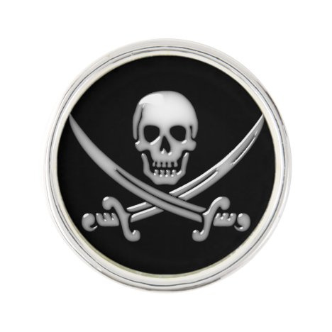 Pirate Skull & Sword Crossbones (TLAPD) Lapel Pin
