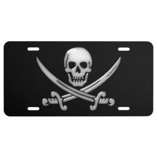 Pirate Skull & Sword Crossbones (TLAPD) License Plate