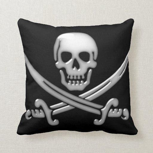 Pirate Skull & Sword Crossbones (TLAPD) Pillow