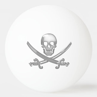 Pirate Skull & Sword Crossbones (TLAPD) Ping Pong Ball
