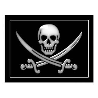 Pirate Skull & Sword Crossbones (TLAPD) Postcard
