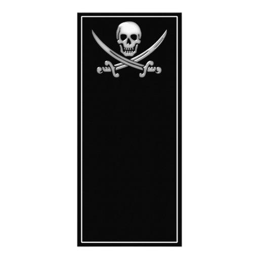 Pirate Skull & Sword Crossbones (TLAPD) Rack Card