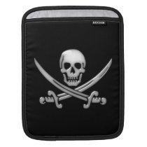 Pirate Skull & Sword Crossbones (TLAPD) Sleeve For iPads