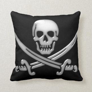 Pirate Skull & Sword Crossbones (TLAPD) Throw Pillow