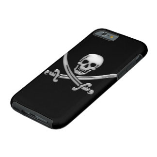Pirate Skull & Sword Crossbones (TLAPD) Tough iPhone 6 Case