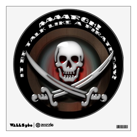 Pirate Skull & Sword Crossbones - TLAPD Wall Sticker