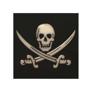 Pirate Skull & Sword Crossbones (TLAPD) Wood Wall Art