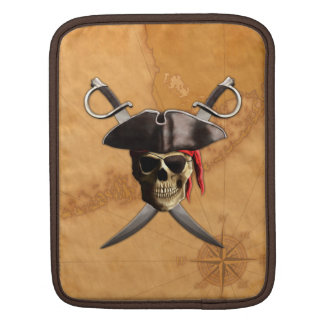 Pirate Skull Swords And Map iPad Sleeves
