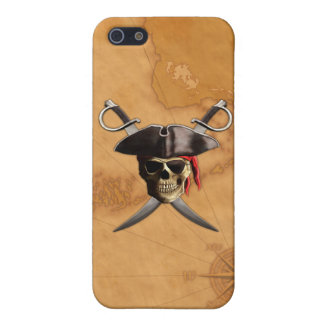 Pirate Skull Swords And Map iPhone 5 Cover