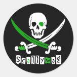 PIRATE Skull &Swords Classic Round Sticker