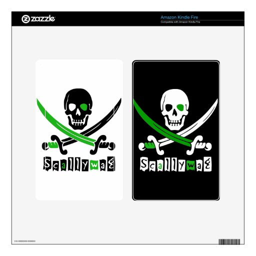PIRATE Skull &Swords Decals For Kindle Fire