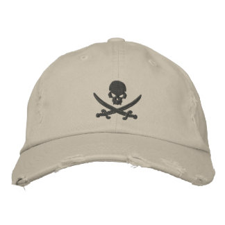 Pirate Skull Swords Embroidered Baseball Hat