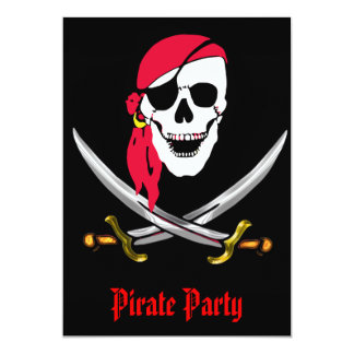 Pirate Skull & Swords Party Card