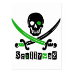 PIRATE Skull &Swords Postcard