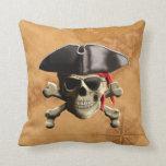 Pirate Skull Throw Pillows