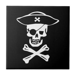 Pirate skull tile