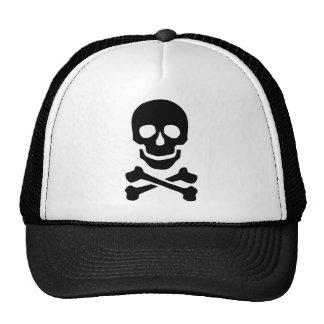 Pirate skull trucker hats