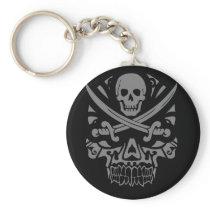 Pirate Skull Tshirt Keychain
