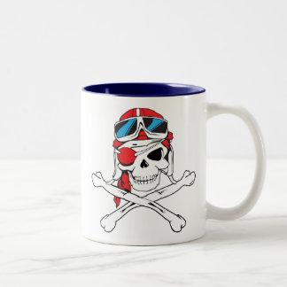 Pirate Skull Two-Tone Coffee Mug
