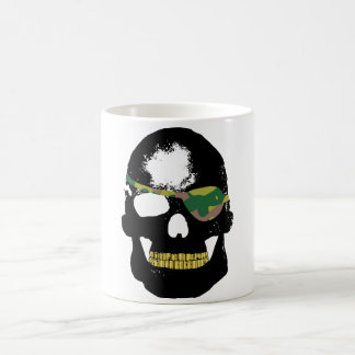 Pirate Skull Wearing Camo Eye Patch Coffee Mug
