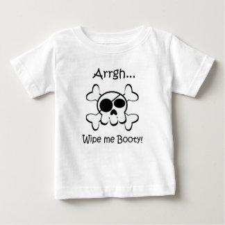 Pirate Skull Wipe Me Booty Baby T-Shirt