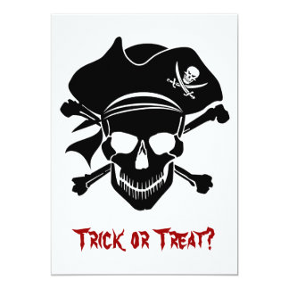 Pirate Skull with Cross Bones Invitation