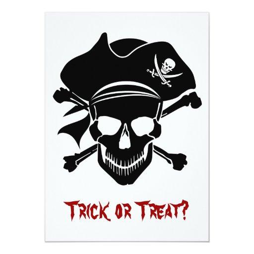 Pirate Skull with Cross Bones Invitation