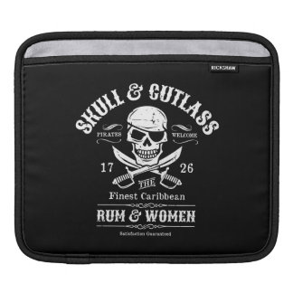 Pirate Skull with Crossed Cutlasses Sleeve For iPads