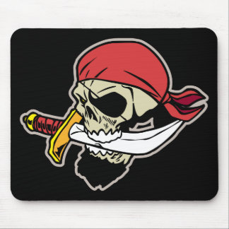 Pirate Skull with Knife Mouse Pad