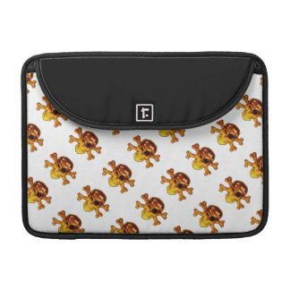 Pirate Skulls and Crossbones Pattern MacBook Pro Sleeves