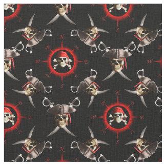 Pirate Skulls Fabric