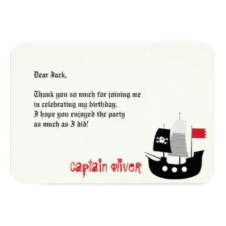 Pirate Skulls & Ship Kids Birthday Thank You Card