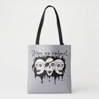 Pirate Skulls Shiver me Timbers PLO Tote Tote Bag