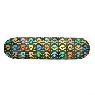 pirate skulls skaters skateboard deck