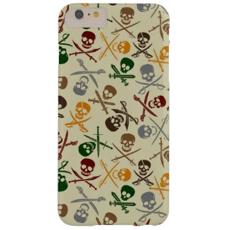 Pirate Skulls with Crossed Swords Barely There iPhone 6 Plus Case