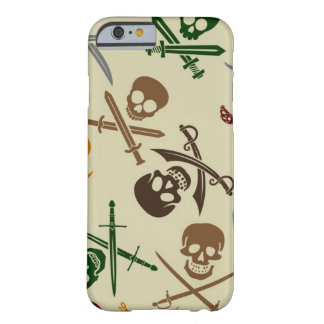 Pirate Skulls with Crossed Swords Barely There iPhone 6 Case