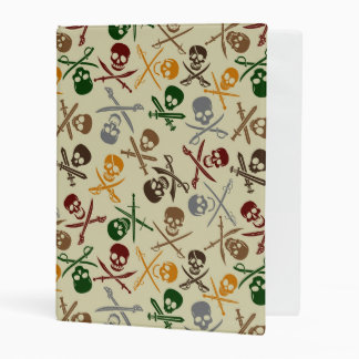 Pirate Skulls with Crossed Swords Mini Binder