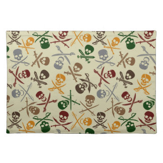 Pirate Skulls with Crossed Swords Place Mat