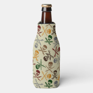 Pirate Skulls with Crossed Swords Bottle Cooler