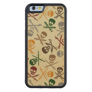 Pirate Skulls with Crossed Swords Carved® Maple iPhone 6 Bumper Case