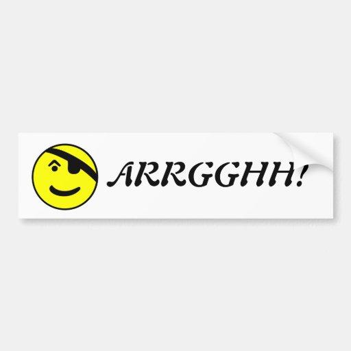 Pirate Smiley Bumper Sticker