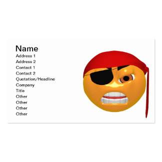 Pirate Smiley Business Cards