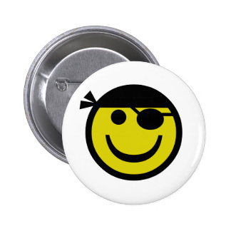 Pirate Smiley Buttons