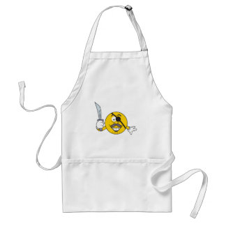 Pirate Smiley Face Adult Apron